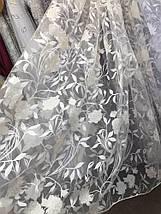 Тюль органза печать Роза BS-23 розница, фото 2