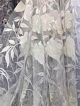 Тюль органза печать Роза BS-23 розница, фото 3