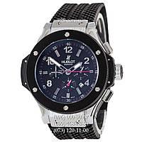 Мужские часы Hublot Big Bang Classic Automatic Black-Silver-Black-Red (механические)