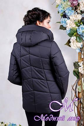 Женская стильная осенняя куртка (р. 44-56) арт. 1011 Тон 21, фото 2