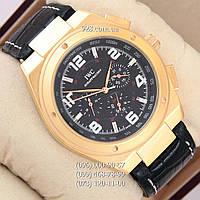 Классические мужские часы IWC Schaffhausen Gold Black (механические)