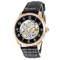 Классические мужские часы IWC Portuguese Skeleton Black/Gold/Black (механические)