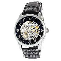 Классические мужские часы IWC Portuguese Skeleton Black/Silver/Black (механические)