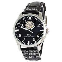 Классические мужские часы IWC Pilot`s Watches Tourbillon Black/Silver/Black (механические)