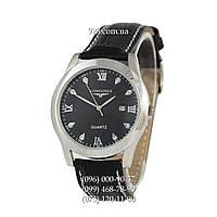 Классические мужские часы Longines Brilliant Black/Silver/Black (кварцевые)
