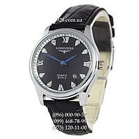 Классические мужские часы Longines 8114-3 White-Silver/Black (кварцевые)