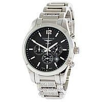 Часы мужские Longines Conquest Classic Chronograph Steel Silver/Black (кварцевые)