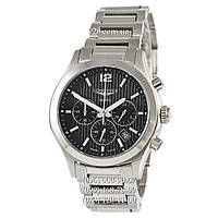 Часы мужские Longines Conquest Classic Chronograph Steel Silver/Black 1 (кварцевые)