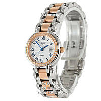 Часы мужские Longines PrimaLuna Diamonds Silver-Gold/White (кварцевые)