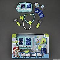 Набор доктора D 1511, 10 предметов, рентген, звук, свет, на батарейках