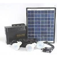 Портативный аккумуляторный фонарь c солнечной батареей GD 8012
