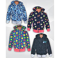 Куртка (кофта) детская на молнии для девочки,двунитка, р.р.28-38
