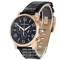 Классические мужские часы Montblanc TimeWalker Black/Gold/Black-Brown (кварцевые)