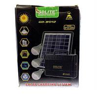 Солнечная панель + 3 подвесные лампочки GD 8012 Solar Board