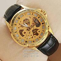 Классические мужские часы Omega Gold/Gold Skeleton (механические)