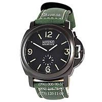 Классические мужские часы Panerai Luminor Marina Seconds Quartz Green/Black (кварцевые)