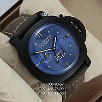Элитные мужские часы Panerai Luminor 8 Days Grey/Black/Blue AAA (механические)