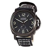 Классические мужские часы Panerai Luminor Marina Seconds Quartz All Black (кварцевые)