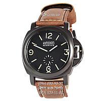 Классические мужские часы Panerai Luminor Marina Seconds Quartz Ginger/Black (кварцевые)