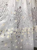 Тюль шифоновая печать Листья YH-12  на метраж, фото 2