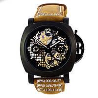 Элитные мужские часы Panerai Lo Scienziato Radiomir Tourbillon GMT (механические)