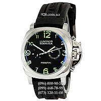 Классические мужские часы Panerai Luminor 1950 Marina 3 Days Black-Silver-Black-Green (механические)