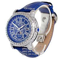 Элитные мужские часы Patek Philippe Grand Complications 6002 Sky Moon Blue-Silver-Blue (кварцевые)