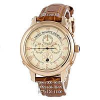 Элитные мужские часы Patek Philippe Grand Complications 5002 Sky Moon Brown/Gold/Milk (механические)