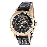 Классические мужские часы Patek Philippe Grand Complications 5002 Sky Moon Black/Gold/Black (механические)