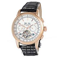 Элитные мужские часы Patek Philippe Grand Complications Tourbillon AA Black/Gold/White (механические)