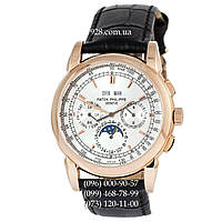 Элитные мужские часы Patek Philippe Grand Complications AA Black/Gold/White (механические)