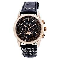 Элитные мужские часы Patek Philippe Gold-Black-Black (механические)