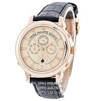 Классические мужские часы Patek Philippe Grand Complications 5002 Sky Moon Black/Gold/Milk (механические)