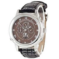 Элитные мужские часы Patek Philippe Grand Complications 5002 Sky Moon Black/Silver/Brown (механические)
