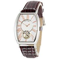 Классические мужские часы Patek Philippe Hand-Wound Tourbillon Brown/Silver/White (механические)