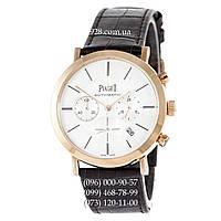 Элитные мужские часы Piaget Altiplano Chronograph Brown/Gold/White (кварцевые)