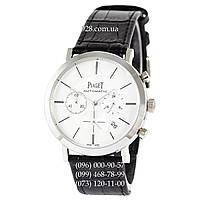Элитные мужские часы Piaget Altiplano Chronograph Black/Silver/White (кварцевые)