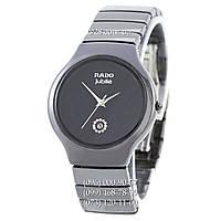 Классические женские часы Rado Jubile Diamonds Ceramic Black-Silver (кварцевые)