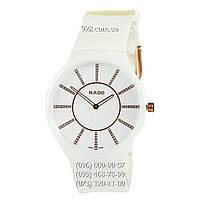 Классические женские часы Rado True Thinline White-Gold (кварцевые)