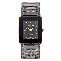 Классические женские часы Rado Integral 12 Diamonds Quartz All Black (кварцевые)