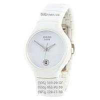 Классические женские часы Rado Jubile Diamonds Ceramic White (кварцевые)