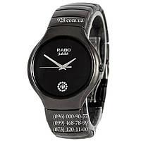 Классические мужские часы Rado Jubile Diamonds Ceramic Black-Silver Pl (кварцевые)
