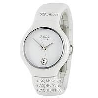 Классические мужские часы Rado Jubile Diamonds Ceramic White-Silver (кварцевые)