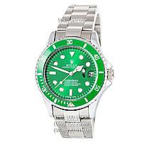 Классические мужские часы Rolex Submariner Date AA Silver/Green (механические)