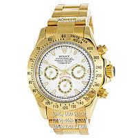 Классические мужские часы Rolex Cosmograph Daytona AAA Gold/White (механические)