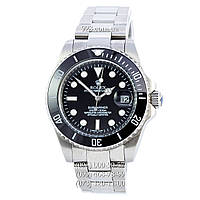 Элитные мужские часы Rolex Submariner Date Silver/Black/Black (механические)