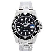 Элитные мужские часы Rolex GMT Master II Silver/Black/Black (механические)