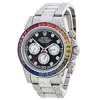 Элитные мужские часы Rolex Cosmograph Daytona Rainbow White Gold (механические)