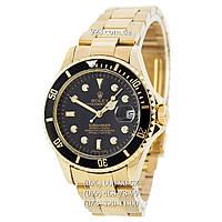 Классические мужские часы Rolex Submariner Gold-Black (механические)