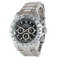 Классические мужские часы Rolex Cosmograph Daytona Silver/Black (механические)